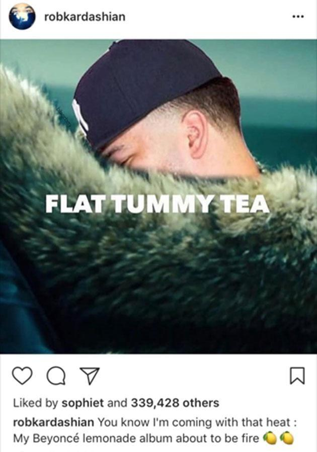 Rob claims he paid for Chyna to have weight loss surgery. Source: Instagram