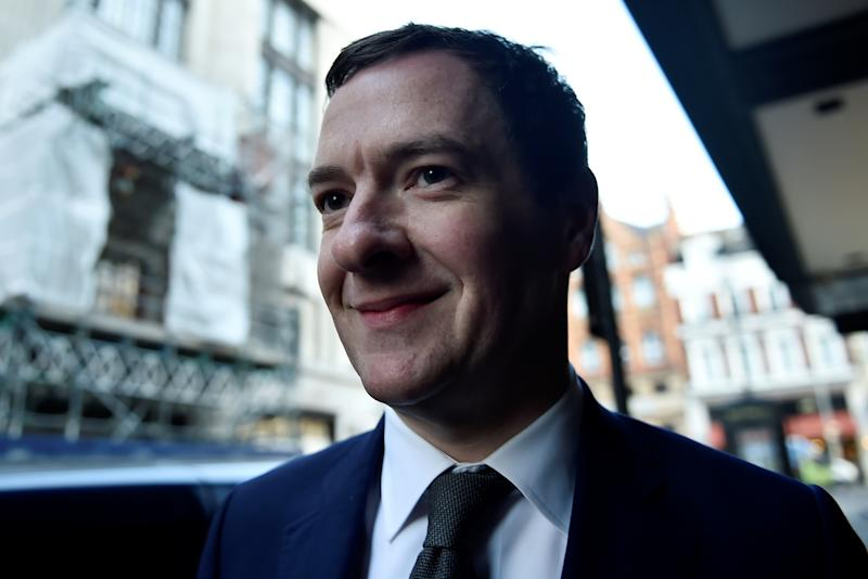 Former Chancellor George Osborne arrives at the Evening Standard offices to formally take up the role of editor of the newspaper in London, Britain, May 2, 2017. REUTERS/Hannah McKay