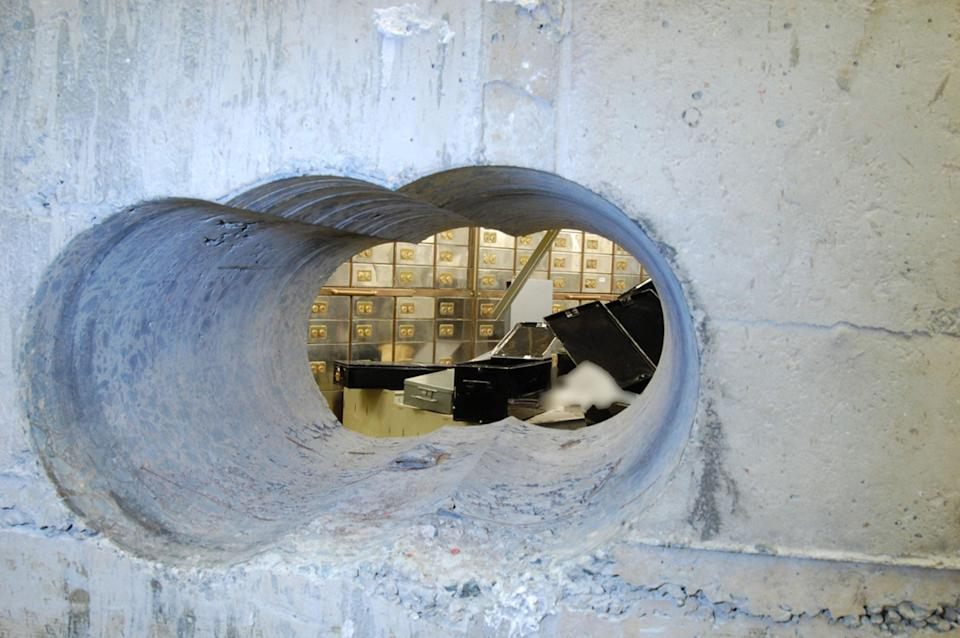 The gang of ageing criminals drilled through thick concrete into the vault at the Hatton Garden Safe Deposit company over the Easter weekend in 2015 (Metropolitan Police/PA) (PA Media)