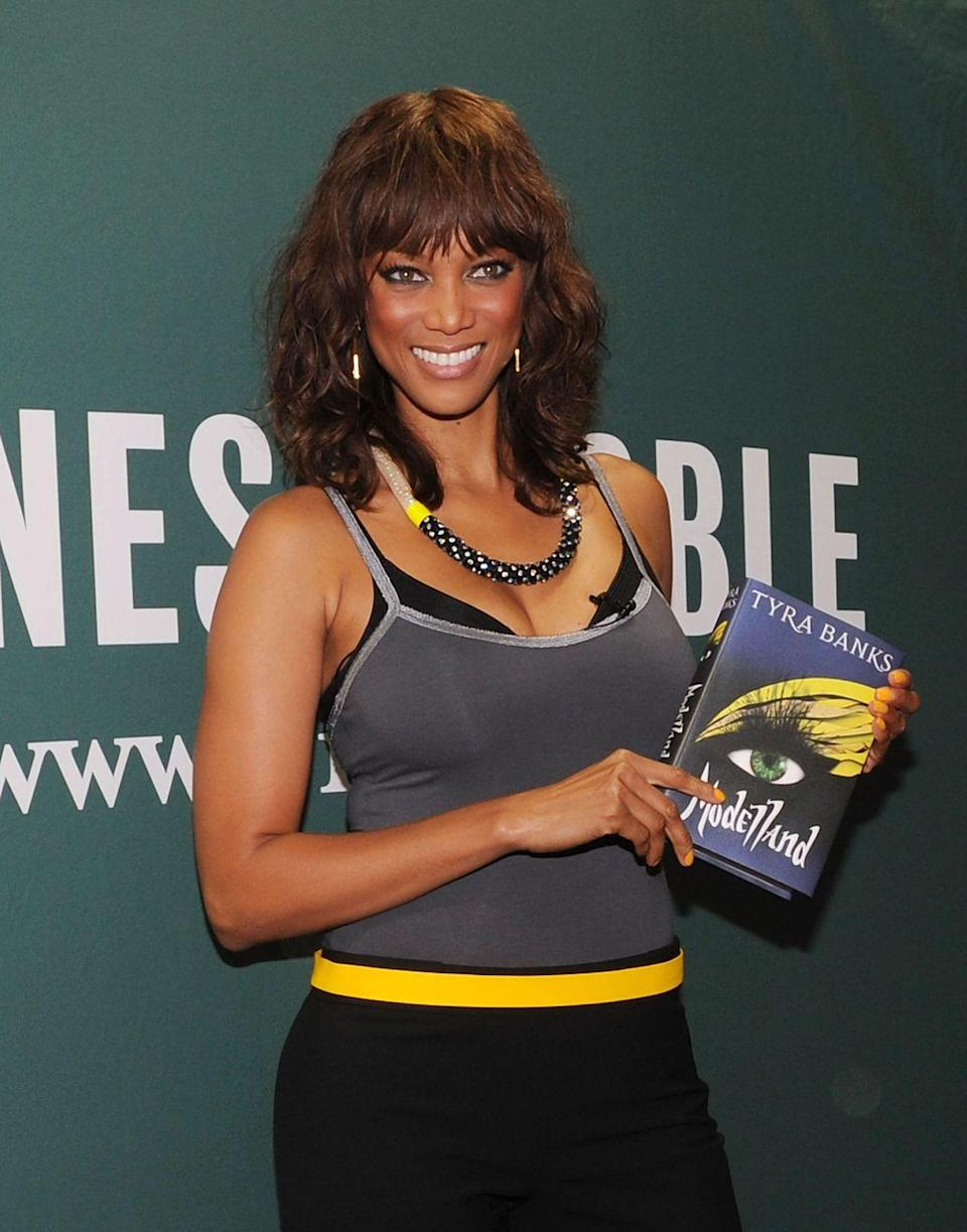 """<p>Tyra Banks smized her way onto the <em>New York Times</em> bestsellers list in 2011 with her young adult novel, <em>Modelland</em>. But you know Tyra never does anything halfway. Her sci-fi book takes place on an """"alternative Earth,"""" according to <a href=""""https://www.publishersweekly.com/978-0-385-74059-3"""" rel=""""nofollow noopener"""" target=""""_blank"""" data-ylk=""""slk:Publishers Weekly"""" class=""""link rapid-noclick-resp"""">Publishers Weekly</a>, where amateur models compete to attend """"Modelland,"""" an elite school where students are trained to be an """"Intoxibella""""—a.k.a. a supermodel. </p><p>The new<em> Dancing With The Stars</em> host described the story as, """"'Harry Potter,' 'Hunger Games' and 'Willy Wonka and the Chocolate Factory' meets 'America's Next Top Model'"""" in an interview with <a href=""""https://www.huffpost.com/entry/tyra-banks-modelland_n_1024731"""" data-ylk=""""slk:VH1"""" class=""""link rapid-noclick-resp"""">VH1</a>, which means there's no way you're not getting your hands on a copy.</p><p><a class=""""link rapid-noclick-resp"""" href=""""https://www.amazon.com/Modelland-Tyra-Banks/dp/038574059X?tag=syn-yahoo-20&ascsubtag=%5Bartid%7C2140.g.33987725%5Bsrc%7Cyahoo-us"""" rel=""""nofollow noopener"""" target=""""_blank"""" data-ylk=""""slk:Buy the Book"""">Buy the Book</a></p>"""