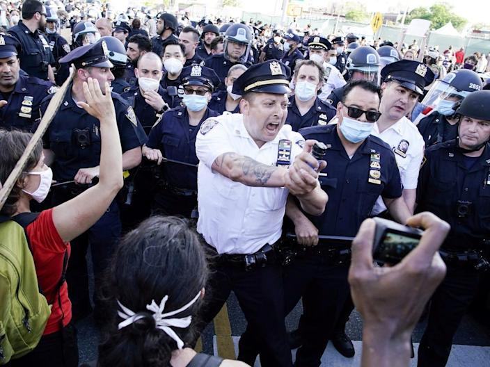 nypd pepper spray protest