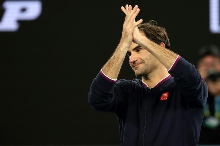 Switzerland's Roger Federer received strong crowd support on Friday