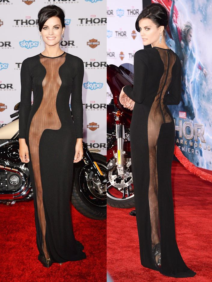 Jaimie Alexander arrives at the premiere of Marvel's 'Thor  The Dark World' 2013