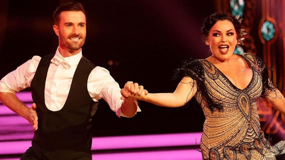 Schapelle Corby and her partner Shae Mountain dance the jive on Dancing with the Stars on Channel 7.