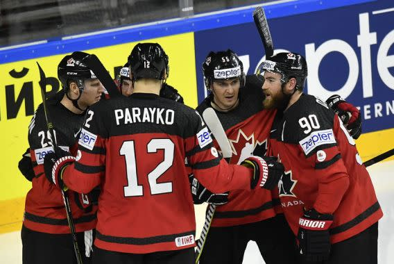 Ice hockey - Holders Canada stun Russia with third-period comeback