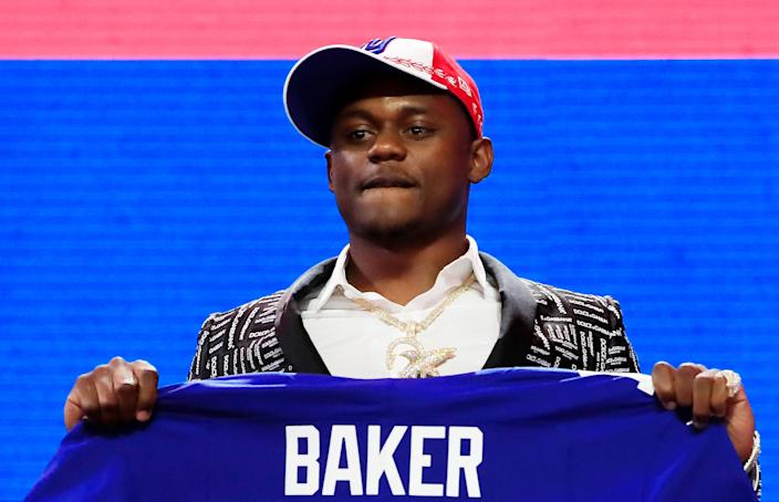 DeAndre Baker has been charged with four counts of armed robbery with a firearm after he allegedly robbed a South Miami party in May. (Photo by Andy Lyons/Getty Images)