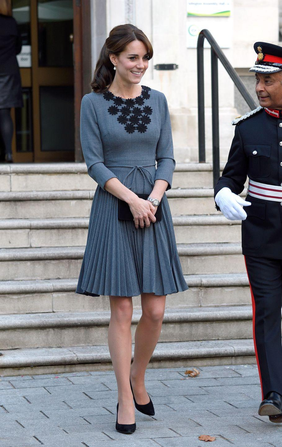 <p>Kate opted to wear the Orla Kiely dress again when she had a meeting at Islington Town Hawl in London. </p>