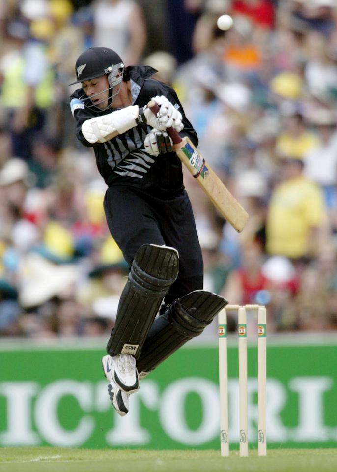 11 Jan 2002:  Stephen Fleming, captain of New Zealand ducks under a Glenn McGrath bouncer, during the first of the VB series matches Australia versus New Zealand, played at the MCG, Melbourne, Australia. DIGITAL IMAGE. Mandatory Credit: Mark Dadswell/Getty Images
