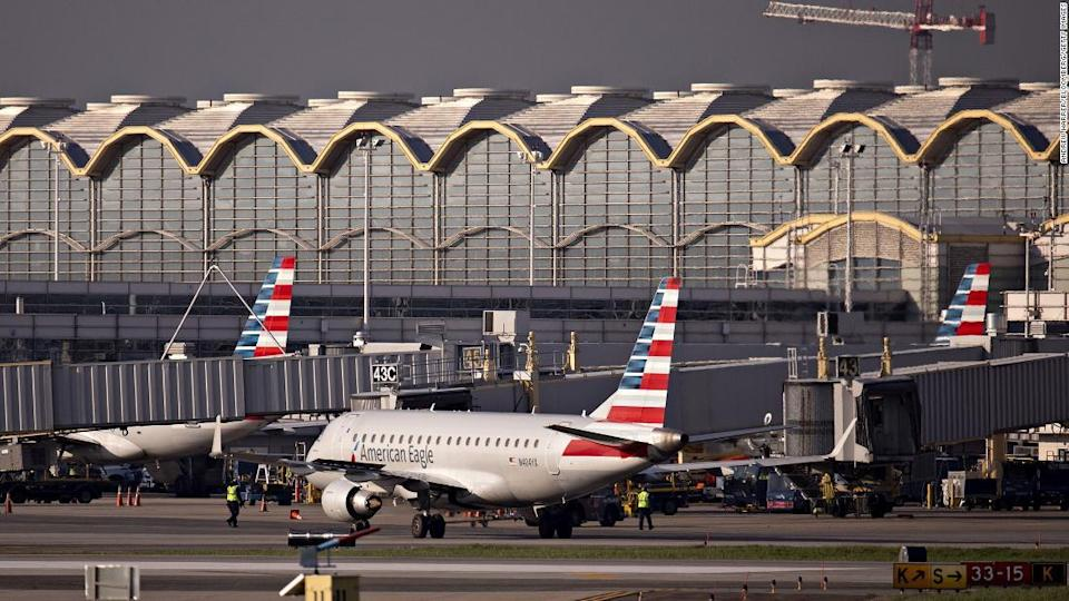 "<p>An American Airlines plane at Reagan National Airport. Flight crews will be relocated closer to airports during the inauguration.</p><div class=""cnn--image__credit""><em><small>Credit: Andrew Harrer/Bloomberg/Getty Images / Getty Images</small></em></div>"