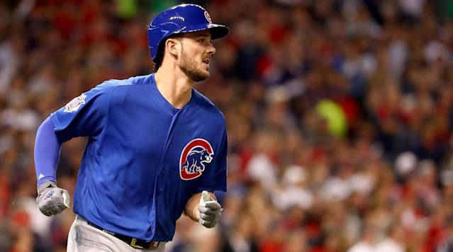 "<p>The Cubs and third baseman Kris Bryant reportedly reached a deal to give Bryant a record $10.85 million as a first-year arbitration-eligible player and avoid an arbitration hearing, reports the <em>Chicago Sun-Times</em>.</p><p>Phillies first baseman Ryan Howard set the old record of $10 million in 2008. Howard and Bryant both National League Rookie of the Year and MVP awards in their first two seasons in the majors. </p><p>Bryant hit .295 with 29 homers last season for Chicago. The 26-year-old made $1.05 million last year.</p><p>He is among five arbitration-eligible players, including Addison Russell, who reportedly reached agreements with the Cubs by Friday, according to the Sun-Times. Right-hander Justin Grimm is the only arbitration-eligible player left who has not signed a deal.</p><p>Earlier Friday, the <a href=""https://www.si.com/mlb/2018/01/12/josh-donaldson-salary-arbitration-record-blue-jays"" rel=""nofollow noopener"" target=""_blank"" data-ylk=""slk:Blue Jays and third baseman Josh Donaldson reportedly agreed"" class=""link rapid-noclick-resp"">Blue Jays and third baseman Josh Donaldson reportedly agreed</a> to a $23 million contract for next season to avoid arbitration. The salary is a record for an arbitration-eligible player, surpassing Bryce Harper's $21.625 million deal for this season. </p>"