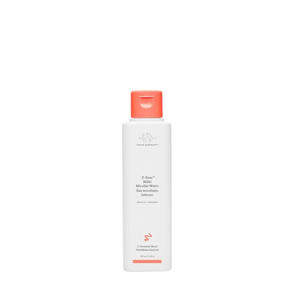 "<p><strong>Drunk Elephant</strong></p><p>sephora.com</p><p><strong>$14.00</strong></p><p><a href=""https://go.redirectingat.com?id=74968X1596630&url=https%3A%2F%2Fwww.sephora.com%2Fproduct%2Fdrunk-elephant-e-rase-milki-micellar-water-P460515&sref=https%3A%2F%2Fwww.harpersbazaar.com%2Fbeauty%2Fskin-care%2Fg34533931%2Fbest-face-wash-for-dry-skin%2F"" rel=""nofollow noopener"" target=""_blank"" data-ylk=""slk:Shop Now"" class=""link rapid-noclick-resp"">Shop Now</a></p><p>Easy does it. Drunk Elephant's ceramide</p>"