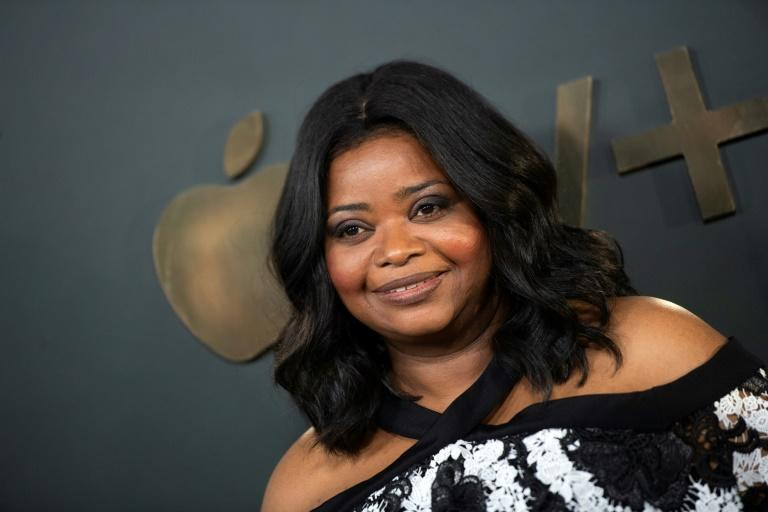"""Octavia Spencer told AFP at a Beverly Hills press day that she listens to true crime -- in particular """"Serial,"""" the most downloaded podcast of all time. (AFP Photo/VALERIE MACON)"""