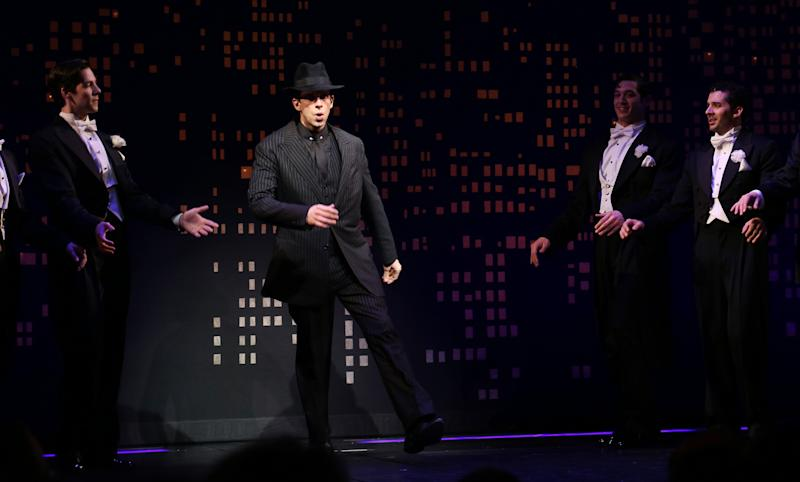"""Nick Cordero performing in """"Bullets Over Broadway"""" in April 2014. (Walter McBride via Getty Images)"""