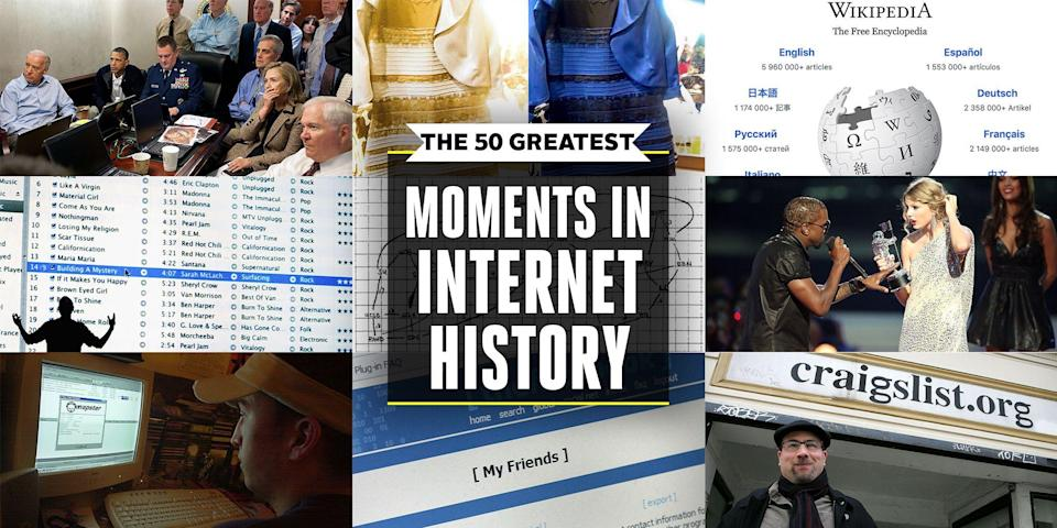 "<p>From the world's first livestream, to llamas on the loose, to the colors of a dress that nobody could agree on, here are the most memorable moments since the <a href=""http://www.popularmechanics.com/internet-week"" rel=""nofollow noopener"" target=""_blank"" data-ylk=""slk:inception of the Internet"" class=""link rapid-noclick-resp"">inception of the Internet</a>.</p>"
