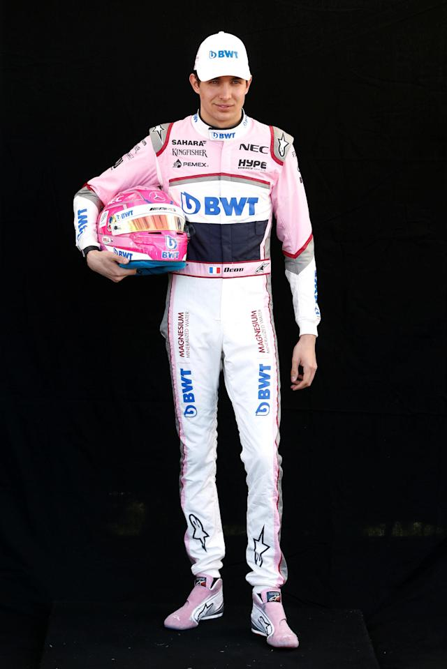 Formula One F1 - Australian Grand Prix - Melbourne Grand Prix Circuit, Melbourne, Australia - March 22, 2018 Force India's Esteban Ocon poses for a photo REUTERS/Brandon Malone