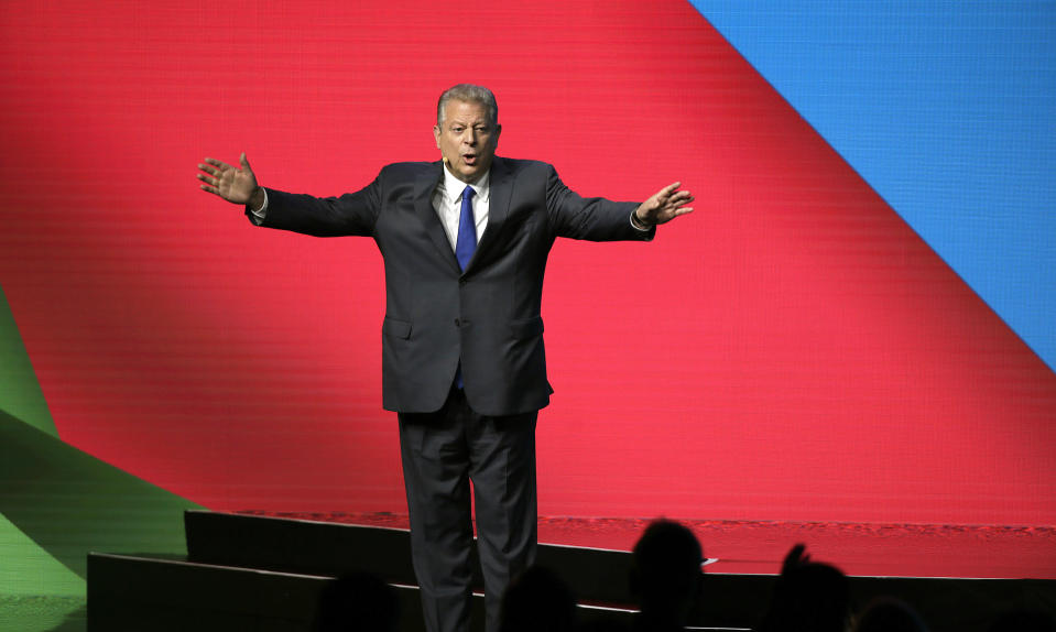 Former Vice President Al Gore would have been a good choice to take over as Tesla Chairman, according to Loup Ventures Gene Munster. (AP Photo/Eric Risberg)