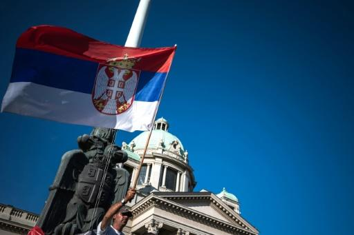 Serbia's ruling SNS party is expected to garner more than 50 percent of the vote