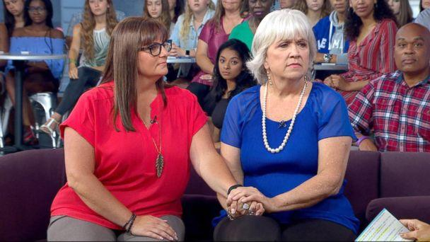 PHOTO: Catherine St Clair, right, and Erin Cosentino appear together on 'Good Morning America.' (ABC)