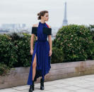 """<p>During the <em>Beauty and the Beast</em> press junket in Paris in February, Emma Watson took a break from doing interviews to get her pose on. (Photo: <a rel=""""nofollow noopener"""" href=""""https://www.instagram.com/p/BQv_Tr5h5DK/"""" target=""""_blank"""" data-ylk=""""slk:The Press Tour via Instagram"""" class=""""link rapid-noclick-resp"""">The Press Tour via Instagram</a>) </p>"""