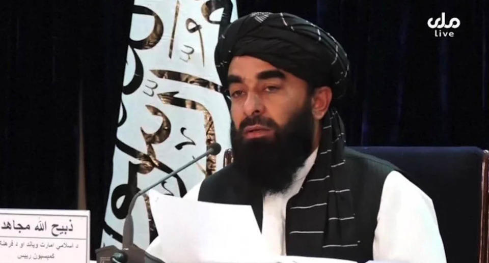 The Taliban's spokesman announced the appointments in a press conference. Source: Reuters