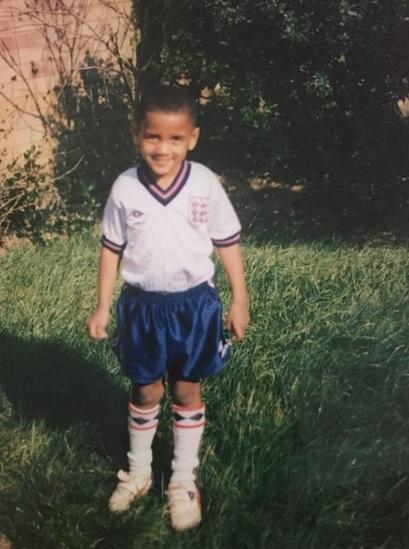 <p>Here's a current Man United man in his England kit as a youngster – but who is it? </p>
