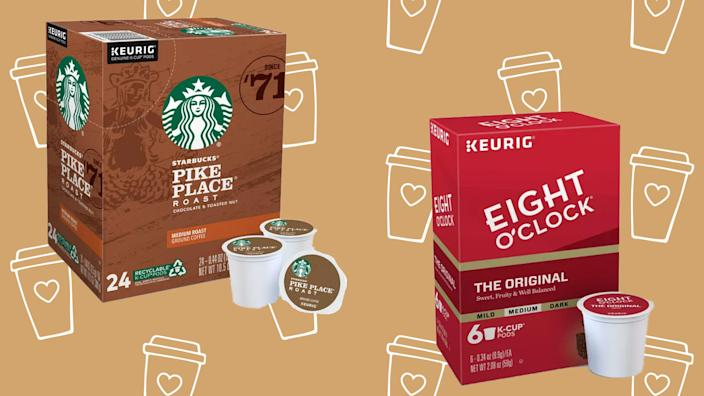 Grab K-Cups from much-loved brands like Starbucks.