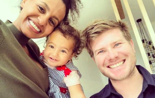 Zoe Hendrix pictured with bub Harper and Husband Alex Garner. Source: Instagram / @zoehendrix.