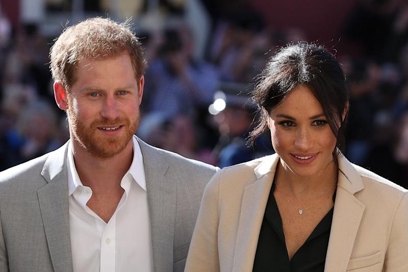 The Duke and Duchess of Sussex were flying to Amsterdam when their plane was reportedly struck by lightning: AFP/Getty Images