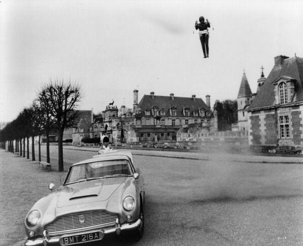 <p>A flying Sean Connery in a scene from the film 'Thunderball', 1965.</p>