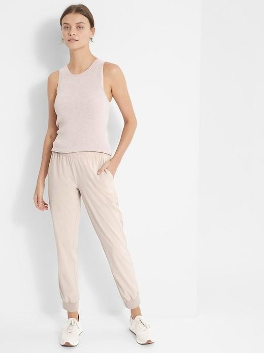 <p>Stay cool and dry year-round with these lightweight <span>Banana Republic Flyweight Joggers</span> ($90).</p>