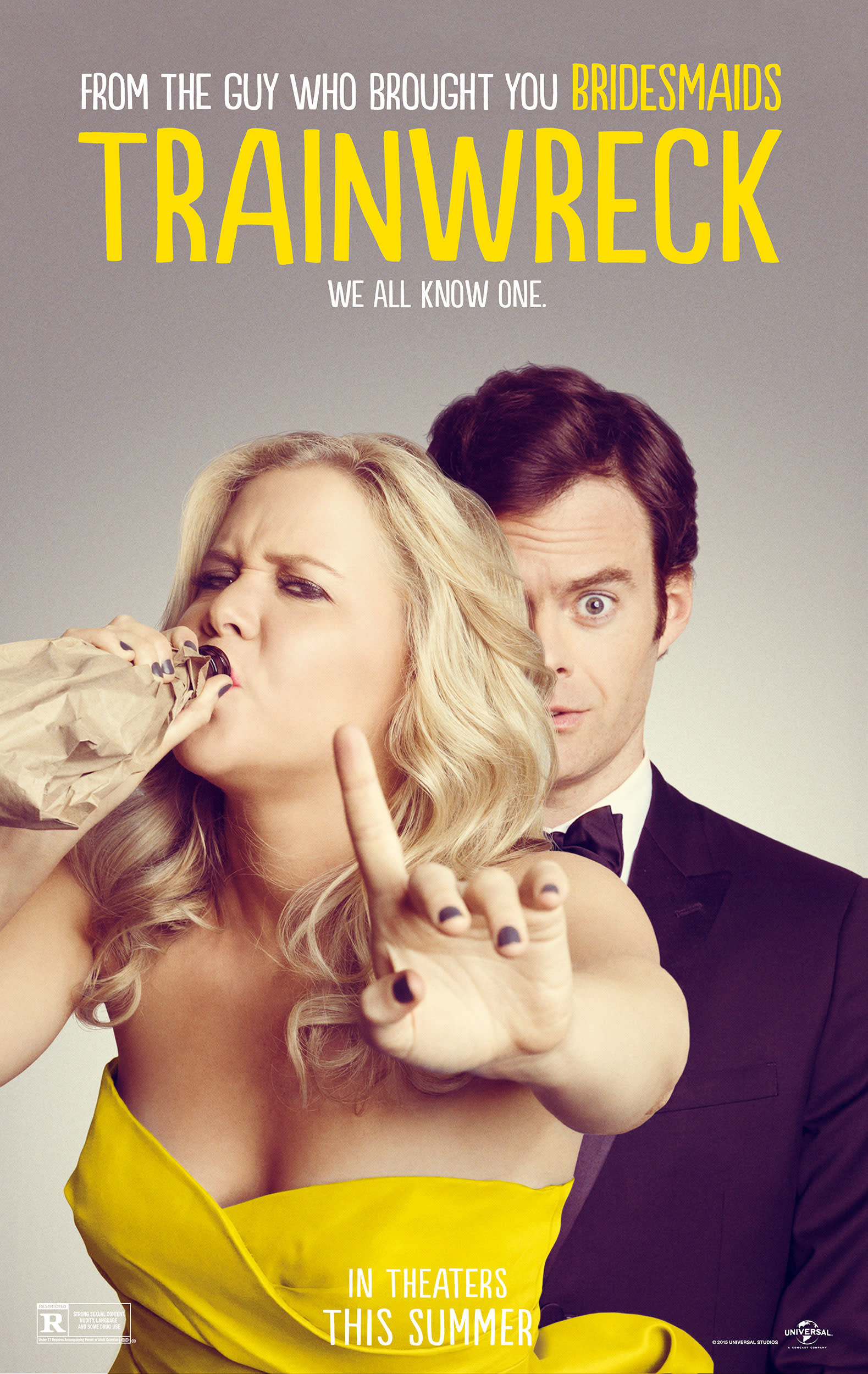 Trainwreck poster with Amy Schumer and Bill Hader