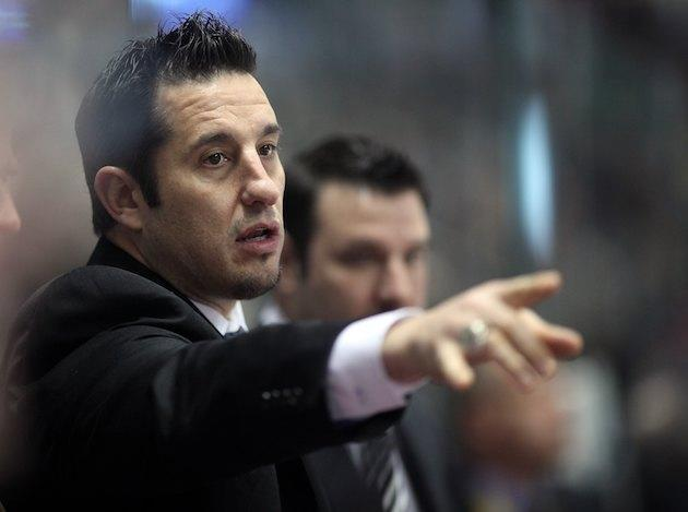 WINDSOR, ON – JANUARY 20: Assistant Coach Bob Boughner of Team Orr points to a play on the ice during the Home Hardware CHL/NHL Top Prospects game against Team Cherry on January 20, 2010 at the WFCU Centre in Windsor, Ontario. Team Cherry defeated Team Orr 4-2. (Photo by Claus Andersen/Getty Images)