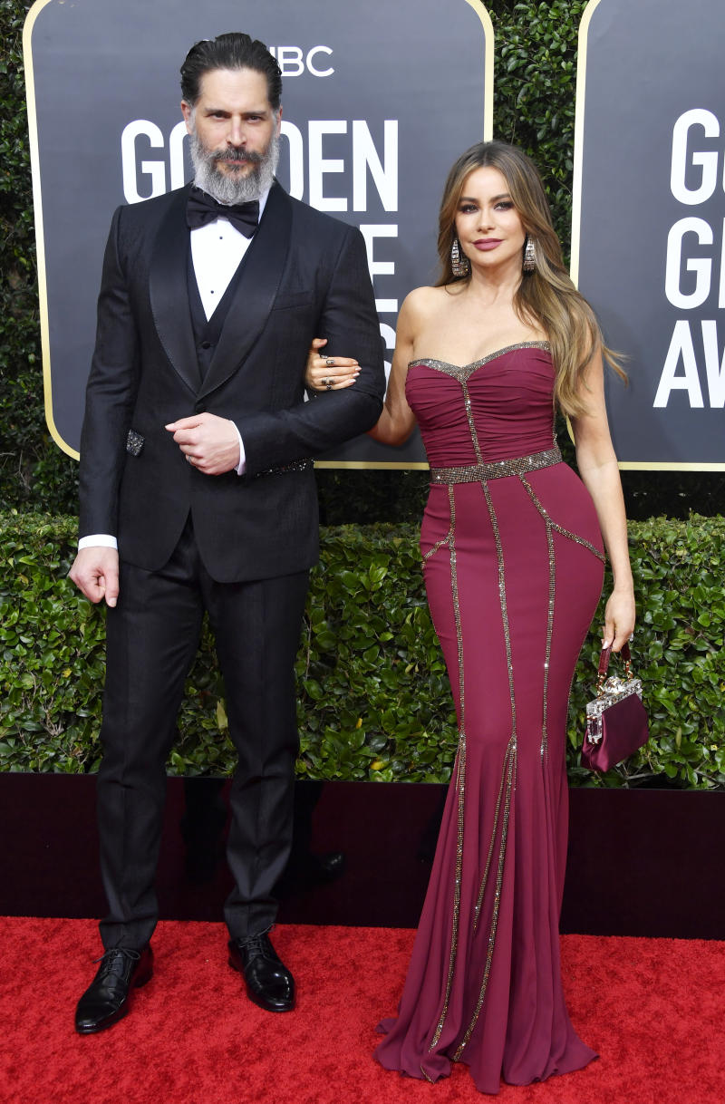 Joe Manganiello and Sofía Vergara at the 2020 Golden Globes
