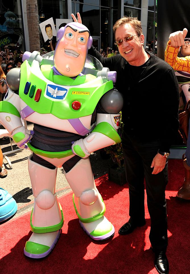 "<a href=""http://movies.yahoo.com/movie/contributor/1800021848"">Tim Allen</a> at the Los Angeles premiere of <a href=""http://movies.yahoo.com/movie/1809266566/info"">Toy Story 3</a> - 06/13/2010"