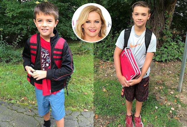 "<p>""And they are off…. one in each school this year,"" wrote Melissa Joan Hart of her boys, including middle-schooler Mason, elementary school kid Braydon, and preschooler Tucker (not pictured). ""Everyone is on their own this year which is character building but gonna be tough for all of us."" (Photos: <a href=""https://www.instagram.com/p/BYdR_AJBMFx/?taken-by=melissajoanhart"" rel=""nofollow noopener"" target=""_blank"" data-ylk=""slk:Melissa Joan Hart"" class=""link rapid-noclick-resp"">Melissa Joan Hart</a> <a href=""https://www.instagram.com/p/BYdZ692BZbC/?taken-by=melissajoanhart"" rel=""nofollow noopener"" target=""_blank"" data-ylk=""slk:via Instagram"" class=""link rapid-noclick-resp"">via Instagram</a>/Getty Images)<br><br></p>"
