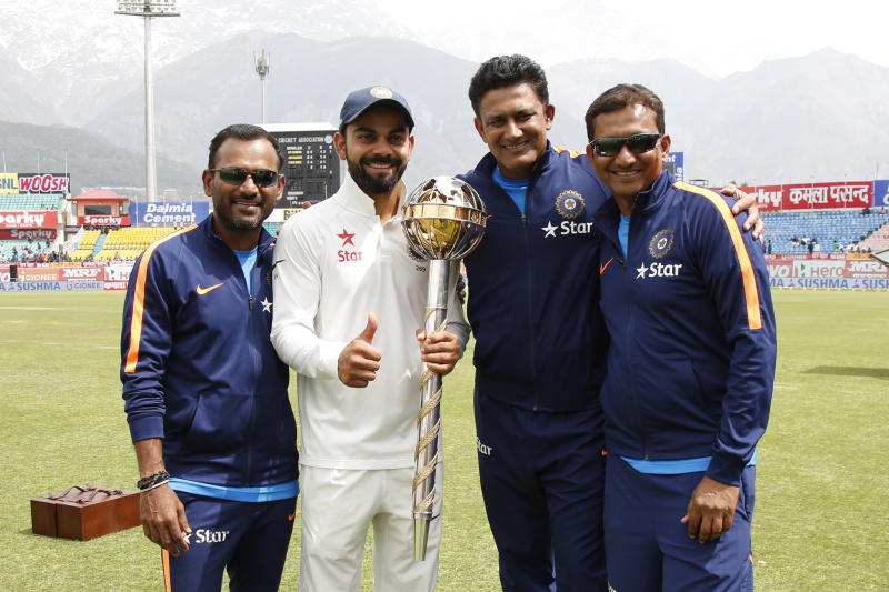 Image result for kohli and kumble icc mace