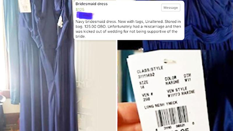 blue bridesmaid dress for sale for shocking reason