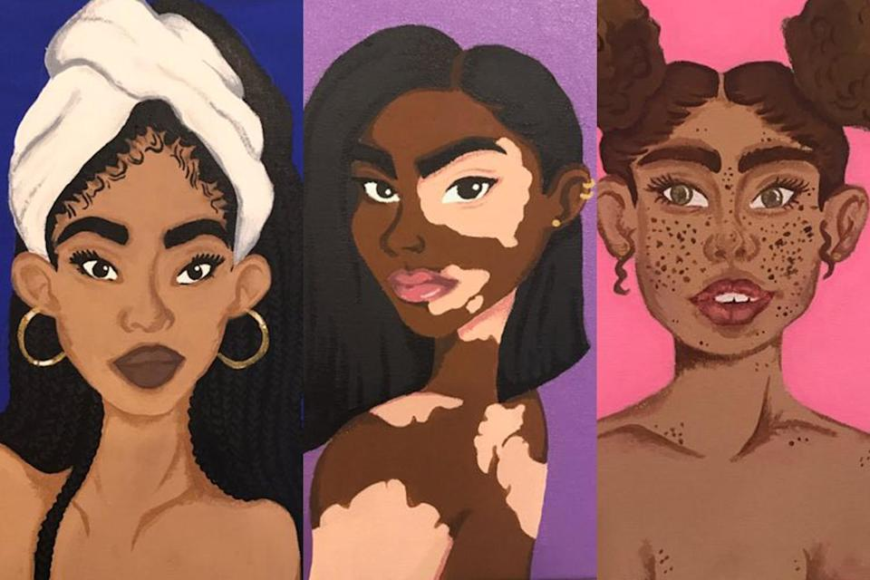 A New Jersey middle-schooler is inspiring women with these works of art. (Artwork: Courtesy of Dana Abbey)