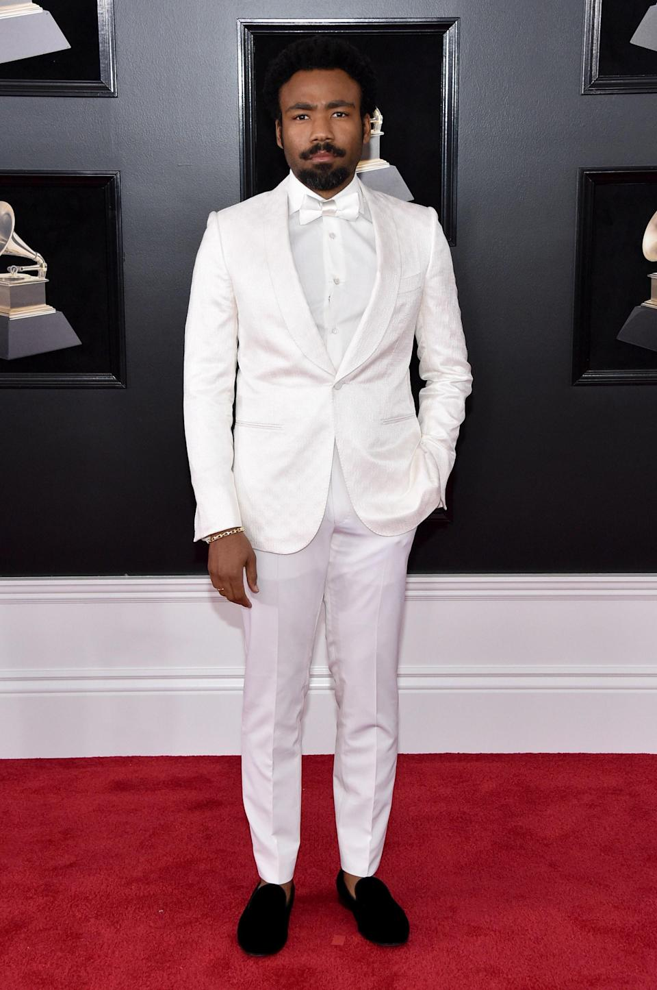 """<h1 class=""""title"""">Childish Gambino in Ermenegildo Zegna Couture and Tod's shoes</h1><cite class=""""credit"""">Photo: Getty Images</cite>"""