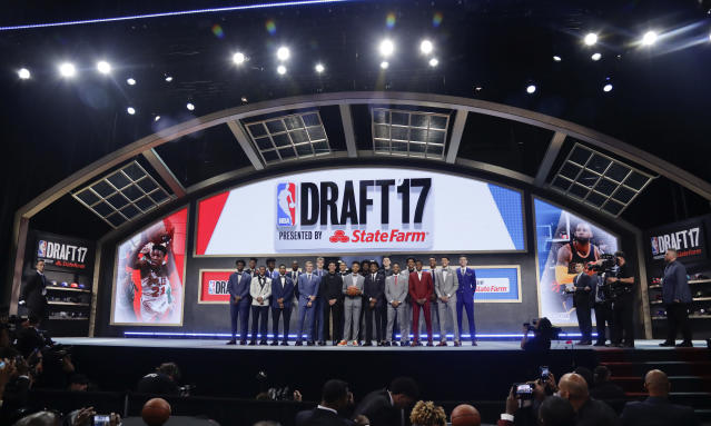 If approved, the NBA's draft lottery changes would take effect in 2019. (AP)