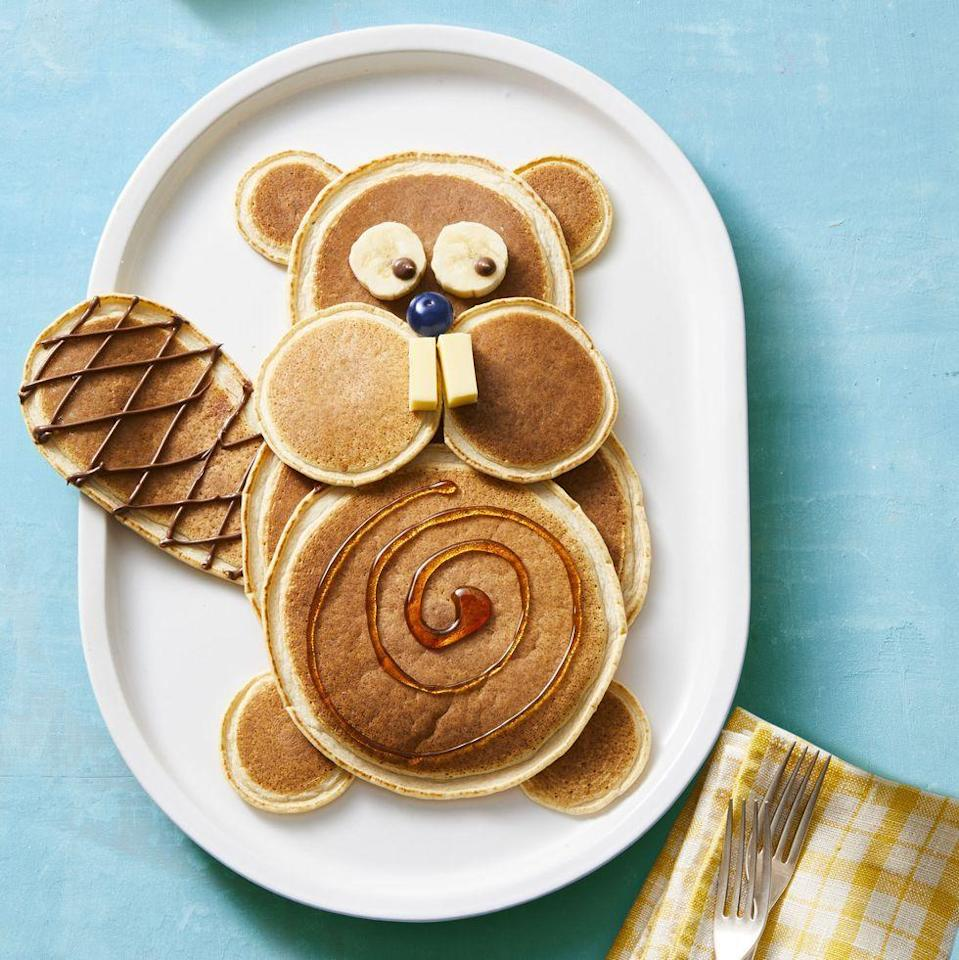"""<p>Um, yep this is the cutest breakfast you've ever seen (and it's sure to wow any mom on the big day).</p><p><strong><em><a href=""""https://www.womansday.com/food-recipes/a33806441/beaver-pancakes-recipe/"""" rel=""""nofollow noopener"""" target=""""_blank"""" data-ylk=""""slk:Get the Beaver Pancakes recipe."""" class=""""link rapid-noclick-resp"""">Get the Beaver Pancakes recipe. </a></em></strong></p>"""
