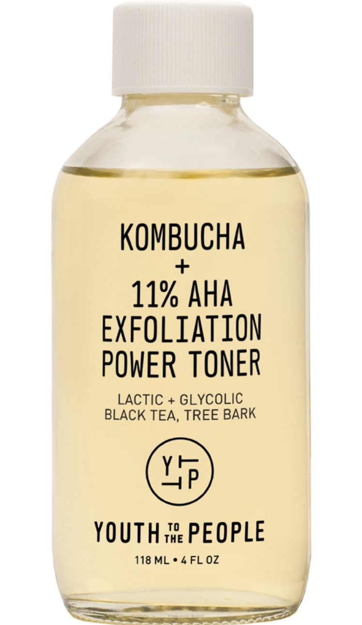 YOUTH TO THE PEOPLE Kombucha + 11% AHA Exfoliation Power Toner