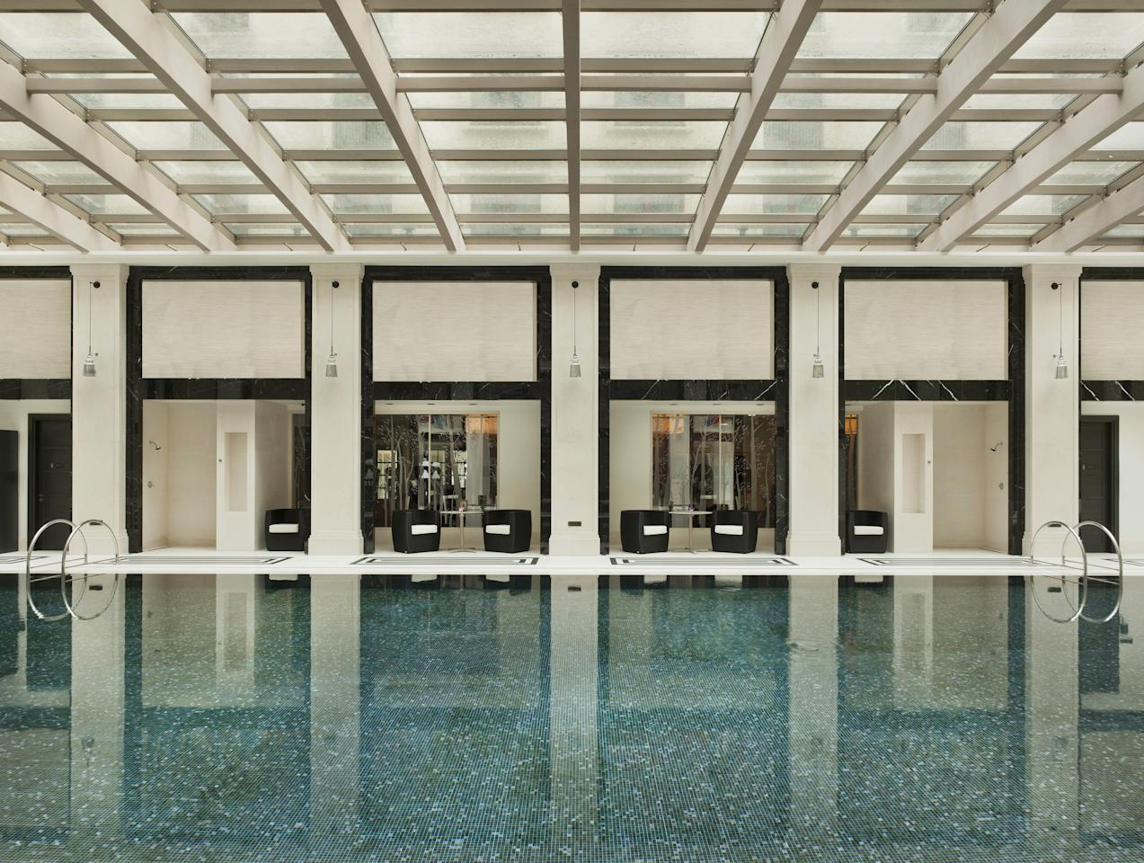 Located mere feet from Russia's Red Square, the <strong>Four Seasons Hotel Moscow</strong> offers more than just views of the city. With a specular indoor pool that is illuminated with natural lighting (courtesy of a glass roof overhead), patrons will feel as if they are outdoors from within the comfort of the hotel.