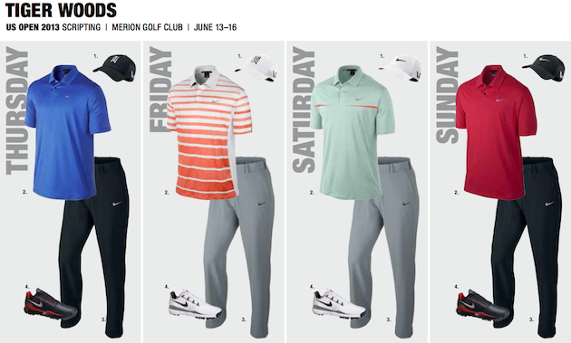 Here is what some of the big names will be wearing at the 2013 U.S. Open
