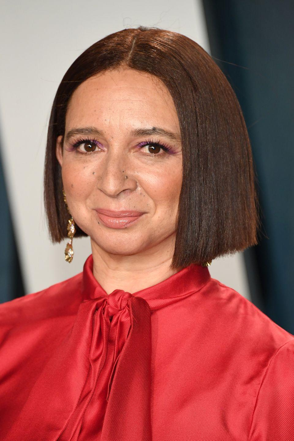 """<p>Thinking about chopping your hair, but don't want it to look too severe? Take a cue from <strong>Maya Rudolph</strong> and opt for the perfect shade of chestnut, which keeps an angular bob sweet. </p><p><a class=""""link rapid-noclick-resp"""" href=""""https://go.redirectingat.com?id=74968X1596630&url=https%3A%2F%2Fwww.ulta.com%2Flava-ceramic-hairstyling-iron%3FproductId%3DxlsImpprod17891025&sref=https%3A%2F%2Fwww.goodhousekeeping.com%2Fbeauty%2Fhair%2Fg34691983%2Fchestnut-hair-color-ideas%2F"""" rel=""""nofollow noopener"""" target=""""_blank"""" data-ylk=""""slk:SHOP FLAT IRON"""">SHOP FLAT IRON</a></p>"""