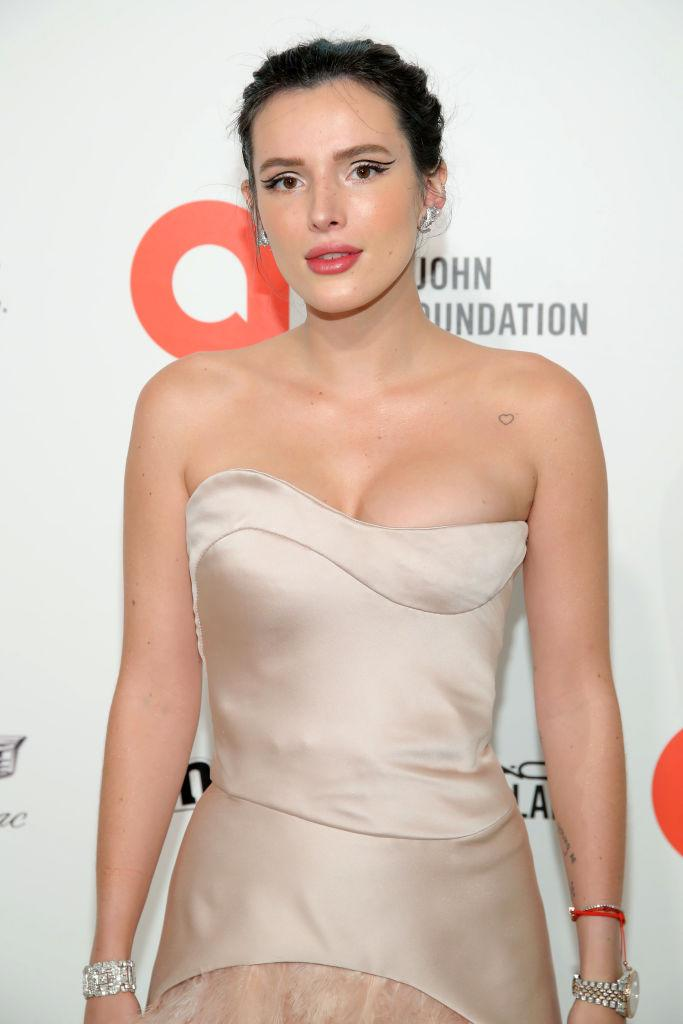 Bella Thorne has previously discussed her sexuality, pictured at the Annual Elton John AIDS Foundation Academy Awards Viewing Party February 2020. (Getty Images)