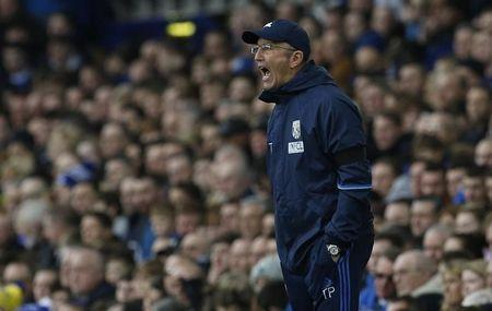 Britain Football Soccer - Everton v West Bromwich Albion - Premier League - Goodison Park - 11/3/17 West Bromwich Albion manager Tony Pulis Action Images via Reuters / Craig Brough Livepic