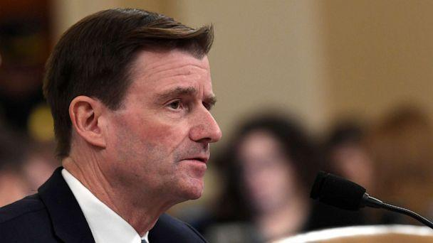 PHOTO: State Department official David Hale testifies before the House Intelligence Committee on Capitol Hill in Washington, Nov. 20, 2019. (Susan Walsh/AP)