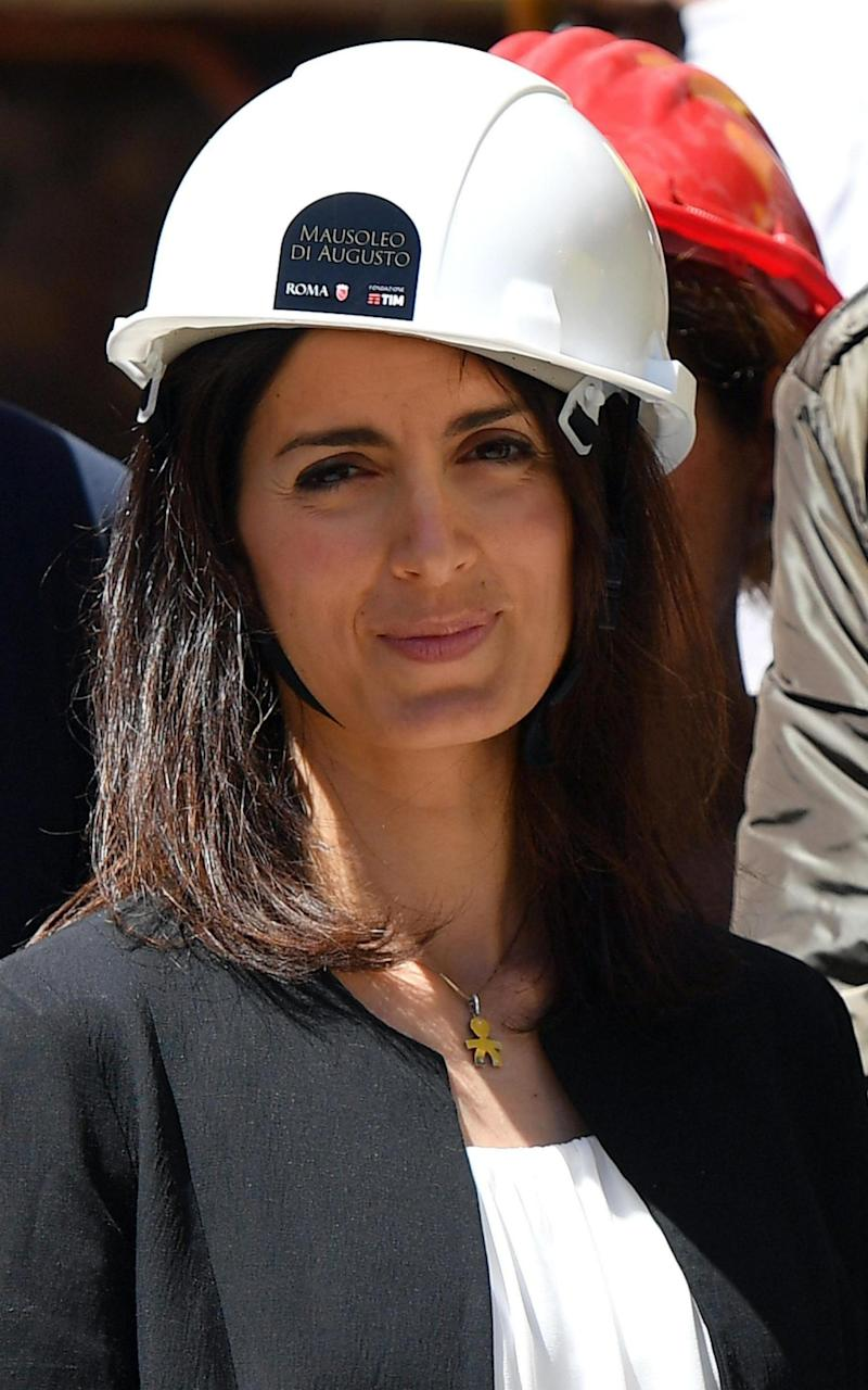 The restoration project was announced by Virginia Raggi, the mayor of Rome, who was later taken on a tour of the mausoleum. - Credit: EPA