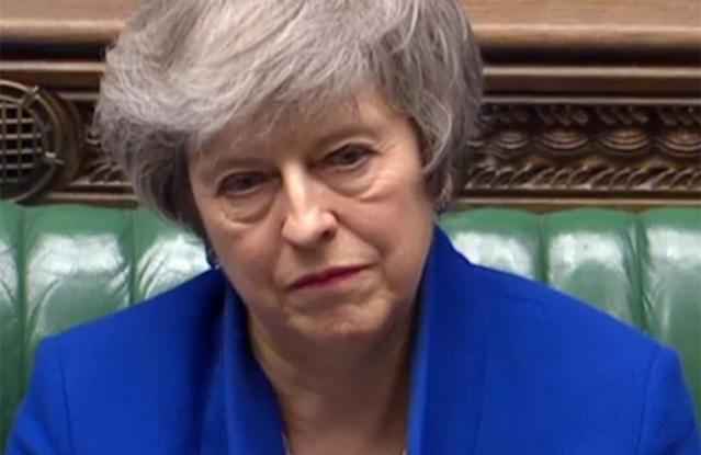 Prime Minister Theresa May suffered the biggest government defeat in modern British history when parliament rejected the Brexit deal she struck with Brussels (AFP Photo/HO)